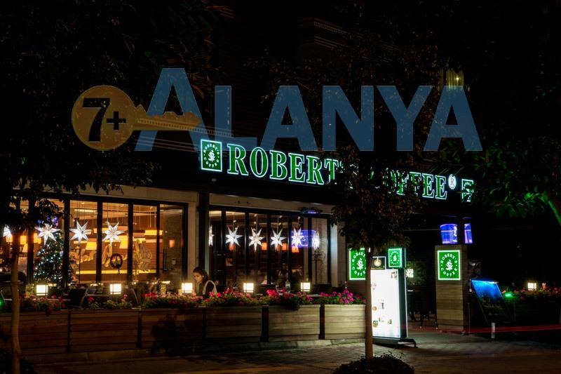 Аланья, Турция. Фото. Robert's Coffee в Аланье. Встреча Нового года.