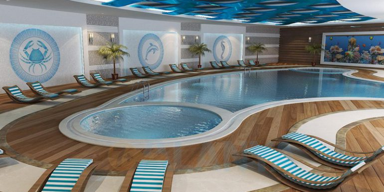 Аланья, Конаклы. Апартаменты 3+1. Зимний бассейн.
