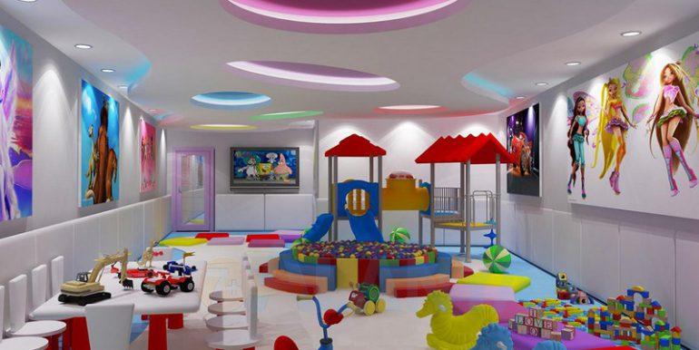 Аланья, Конаклы. Апартаменты 3+1. Детская игровая комната.