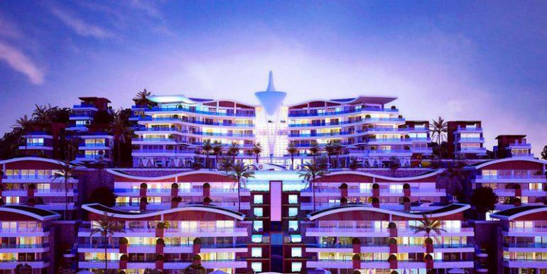 Аланья, Конаклы. Апартаменты 3+1. Вид на комплекс.
