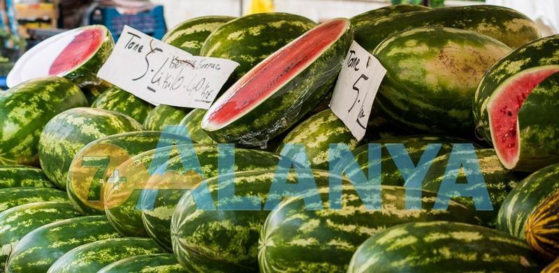 Турция, Аланья. Фрукты в Августе. Фото, цены. Арбузы.