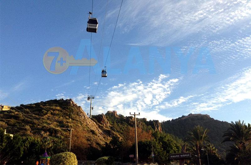 Alanya teleferik - канатная дорога в Аланье - подъём на гору