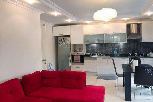 Олив Сити - квартира 1+1 - гостиная и кухня