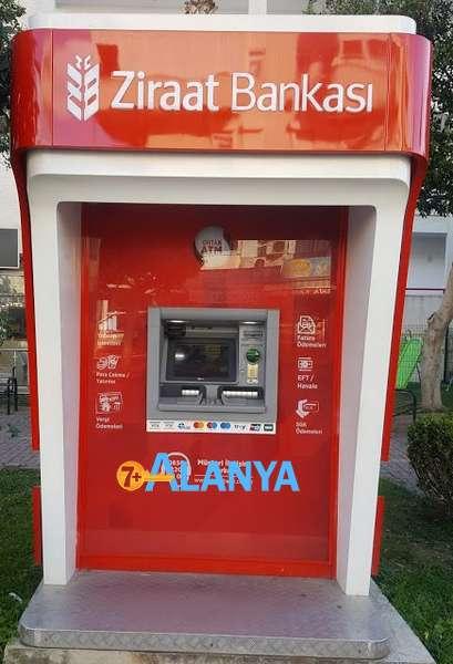 Снятие денег в Турции с карт Российских банков и карты МИР - банкомат Зираат Банк