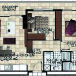 Планировки квартир в жилом комплексе - недвижимость в Махмутларе