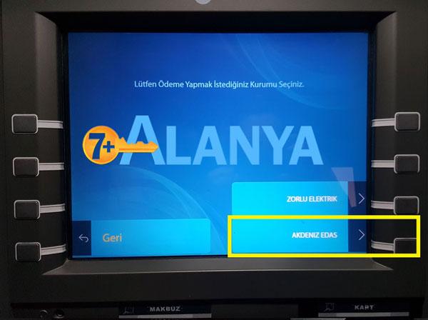 Оплата счёта за свет в Аланье. Банкоматы PTT как пользоваться