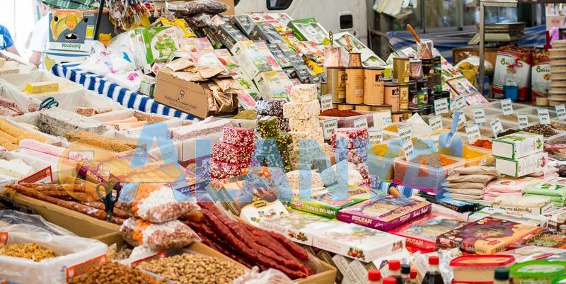 Аланья, Турция. Фото. Рынок. Восточные сладости, цены.