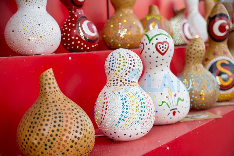 Лампа из тыквы. Сувенир из Турции.