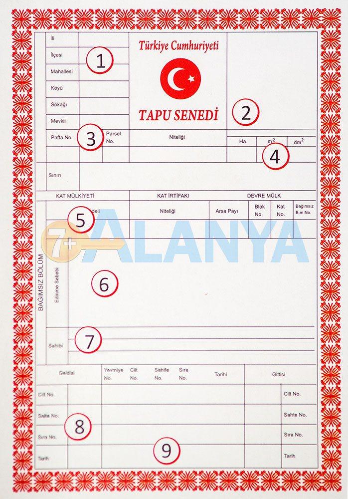 Недвижимость в Турции. Официальные документы. Тапу (Tapu). Фото.