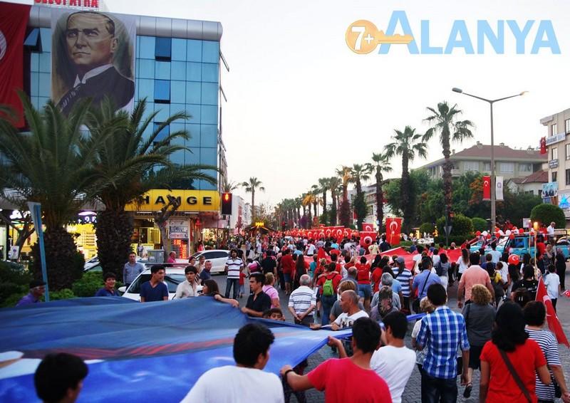 Турция, Аланья. Фото. Праздники. День молодёжи и спорта. Парад на площади Ататюрка.